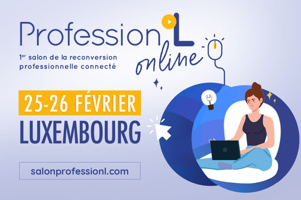 Professional retraining fair connected in Luxembourg